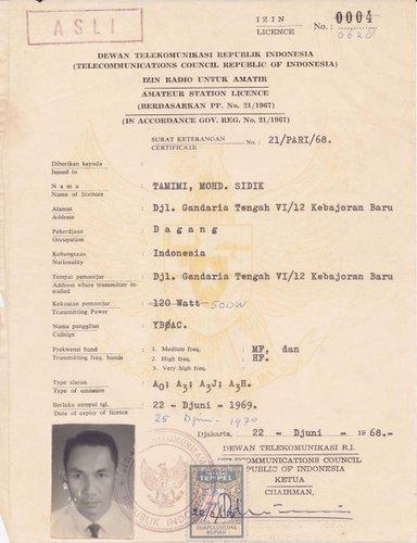 Pada 9 Juli 1968 , Organisasi Amatir Radio Indonesia, disingkat ORARI