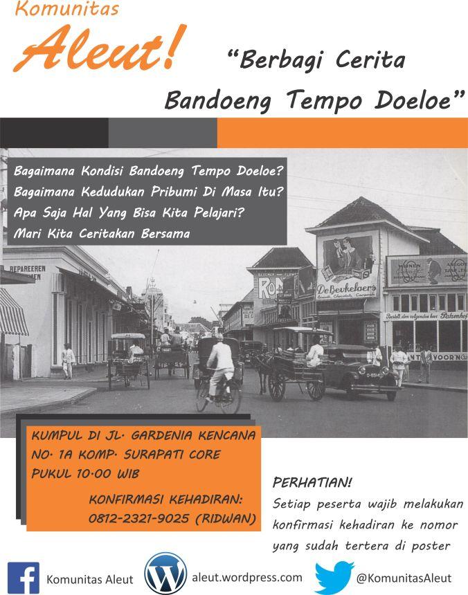 Info kegiatan Komunitas Aleut hari Minggu (04/08/13)