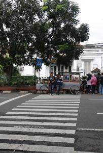 Ujung Zebra Cross-nya di... Pot Bunga? (Foto: Arya Vidya Utama)