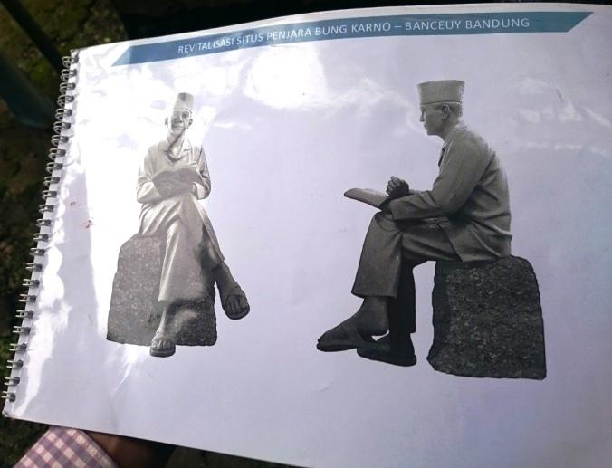 Patung Perunggu Soekarno yang Akan Ditempatkan di Situs Ini