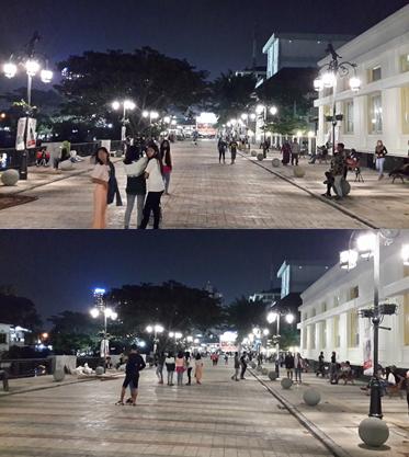 Suasana Malam di Jalan Cikapundung Timur
