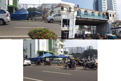 Tempat Tugu Dasa Sila Bandung & Jembatan Penyebrangan