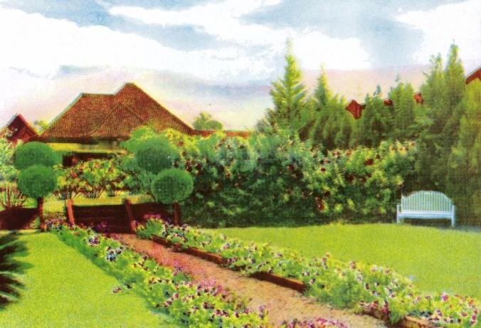 Sebuah Villa dengan Halamannya yang Indah di Bandung