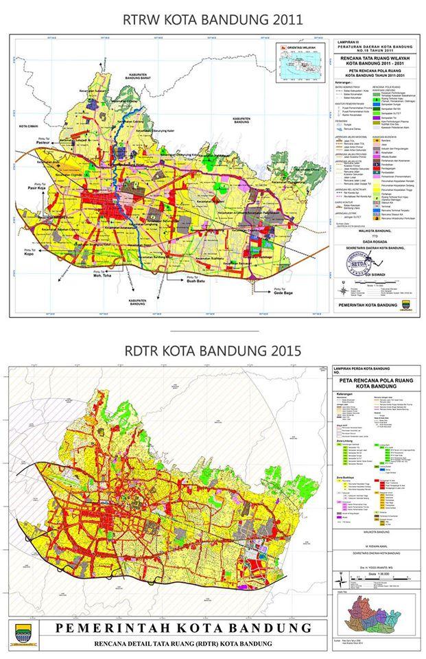 RTRW Bandung Tahun 2011-2021 dan RDTR Tahun 2015 yang Sudah Resmi