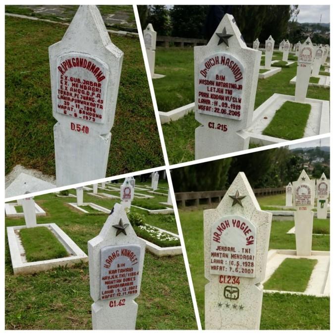 Makam para pejabat di TMP Cikutra