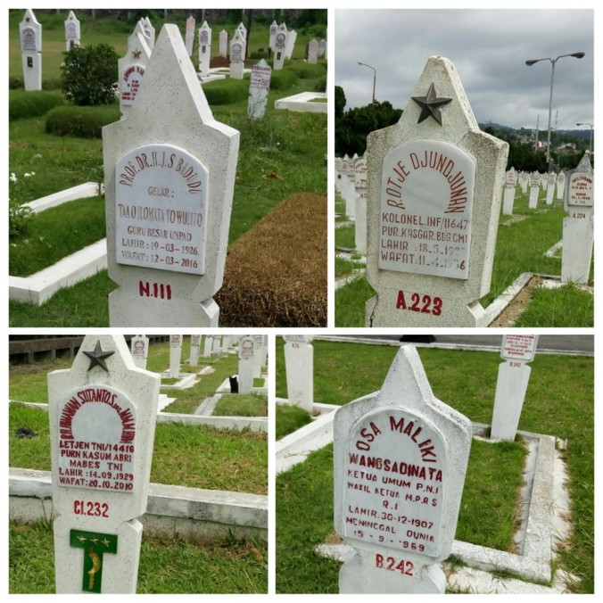 Makam para tokoh di TMP Cikutra 2
