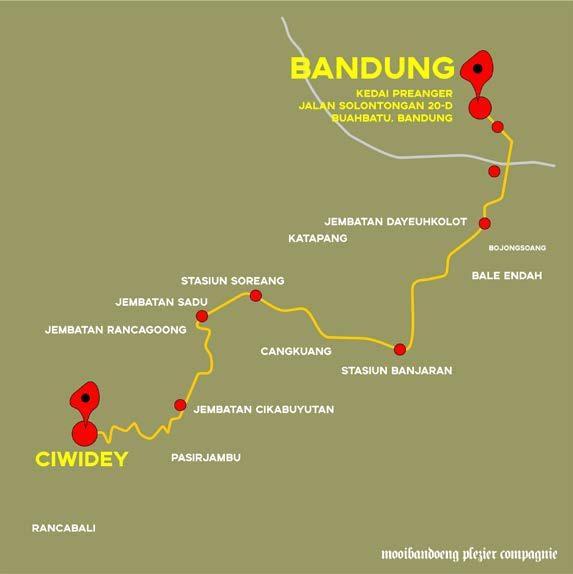 Rute perjalanan tour Spoorwegen Bandjaran-Tjiwidej (@mooibandoeng)