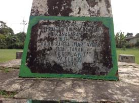 monumen peringatan di lapangan depan Pabrik Teh Bukanagara