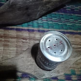 Cetakan kutumayang dari kaleng bekas sarden